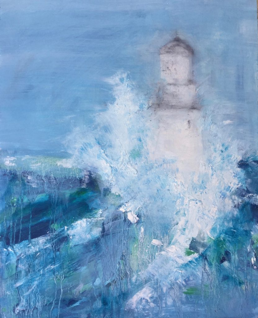 Stormy Lighthouse (oil)