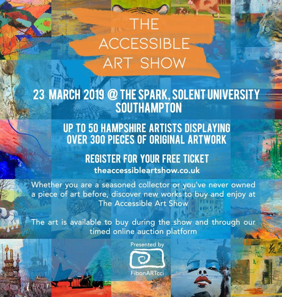 Accessible art show poster