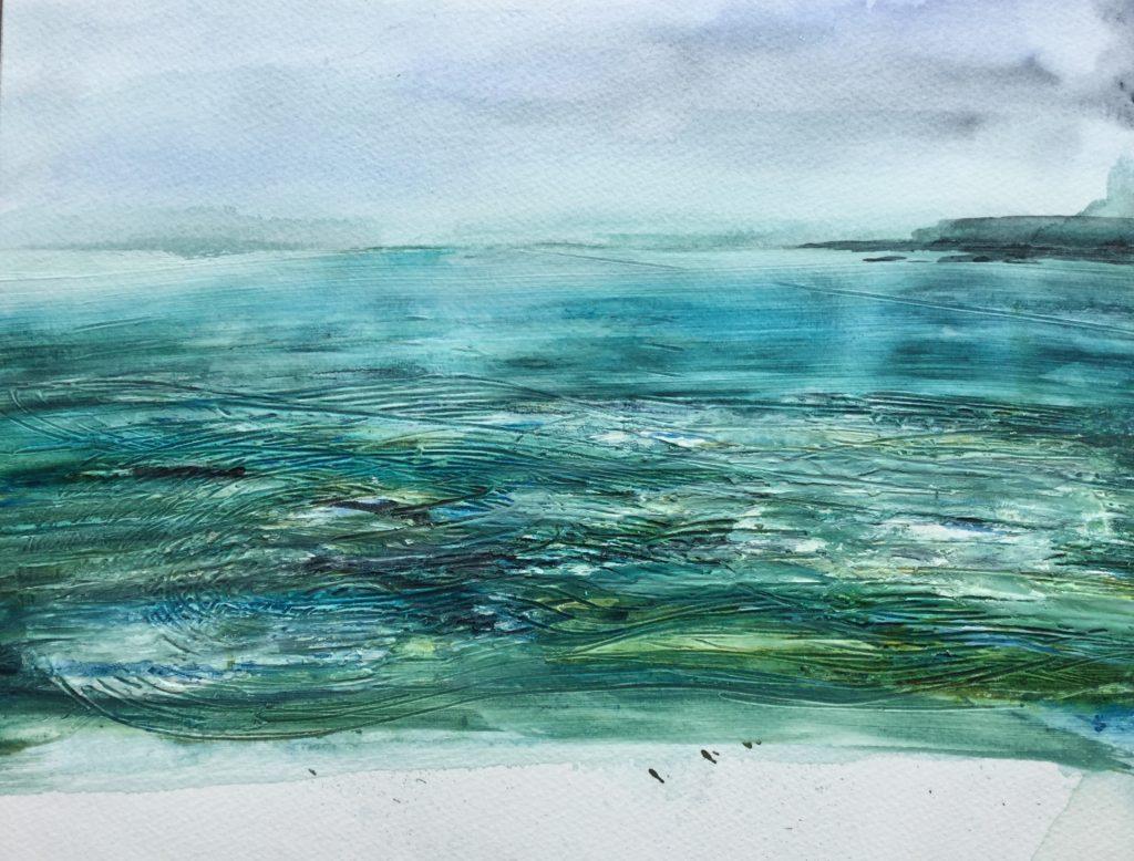 Summer Sea (mixed media)