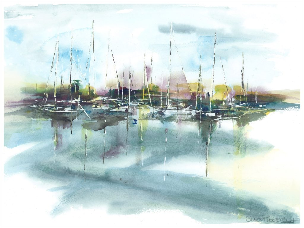 Sail Away 2 (mixed media - prints available) - SOLD