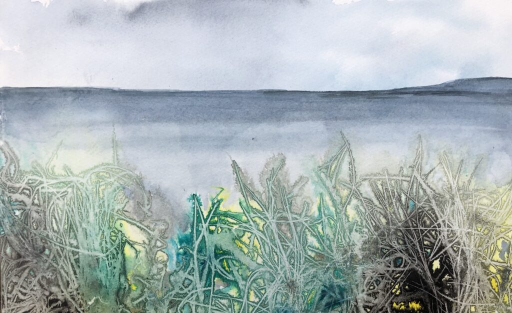 Shoreline (mixed media)