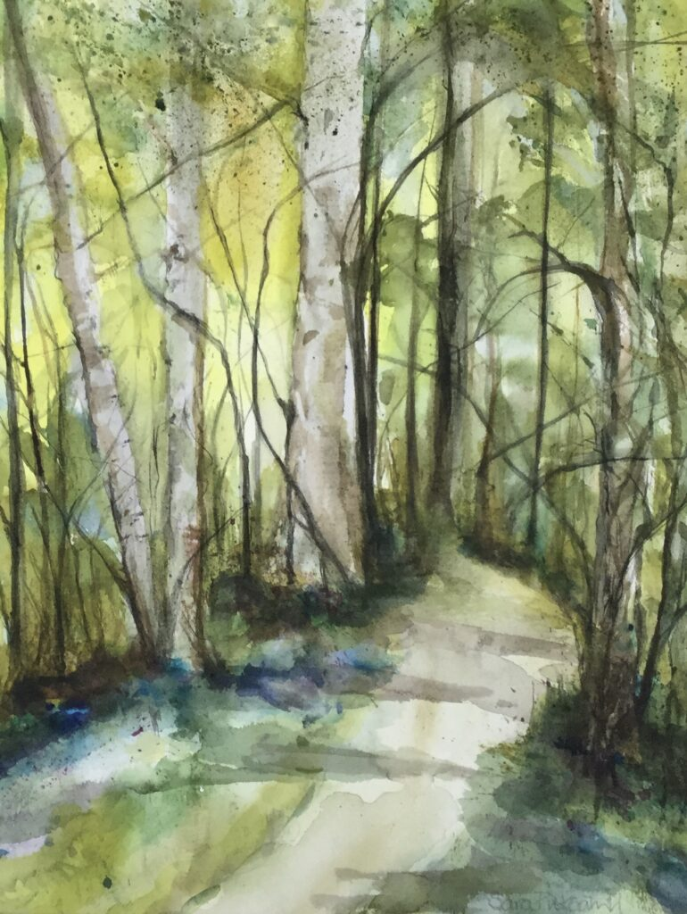 Bere Forest Bluebells (watercolour)