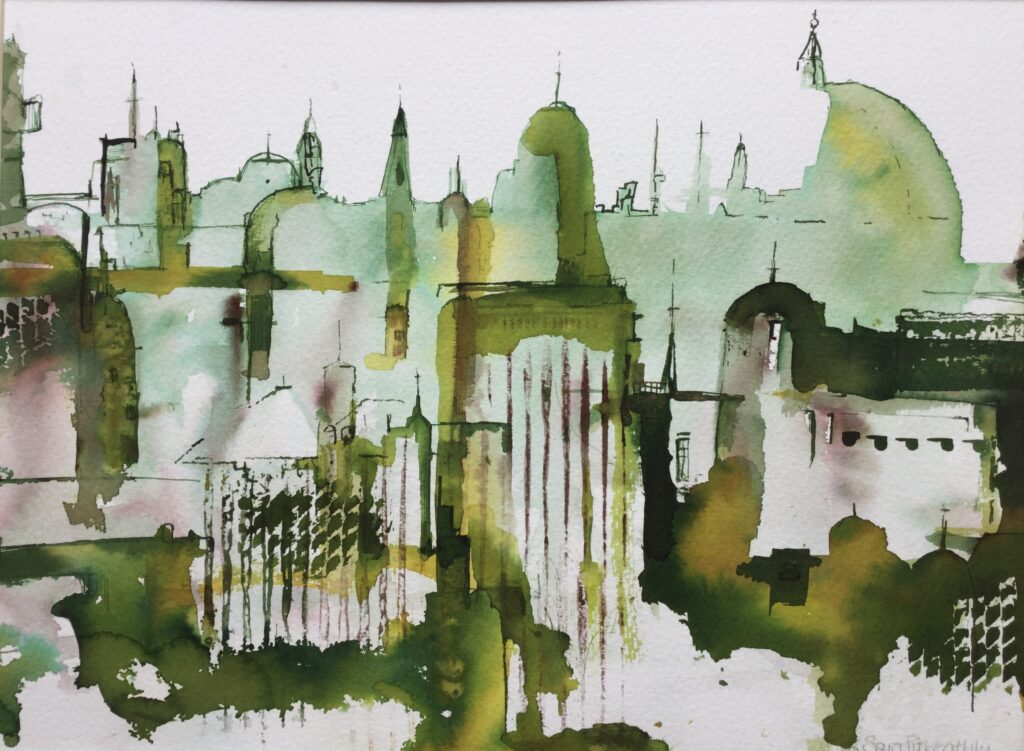 Green Buildings (watercolour)